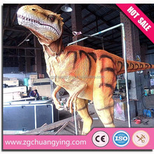 amusement park ride realistic dinosaur costume t-rex
