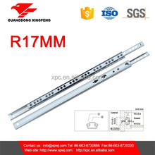Cabinet Hardware 17mm 2 Fold Mini Telescopic Drawer Channel