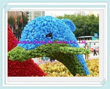 dolphin artificial plant animal sculpture & topiary for garden ornament