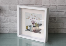 Square big picture frame 14x14 white for Christmas decorations