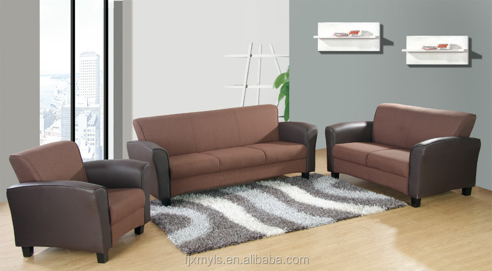 2015 New Design Fabric And Leather Sofa Modern Living Room