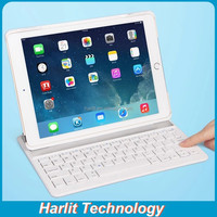 Whole Sale Price Leather Keyboard Case For iPad Air 2 Stylish Slim Keyboard Leather Case For iPad Air2 White Color HB115