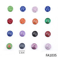 Hot sale popular 2015 fashion enamel custom made metal buttons for clothing
