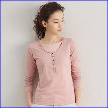 Sexy ladies plain color t shirt summer popular women long sleeve wholesale t shirts