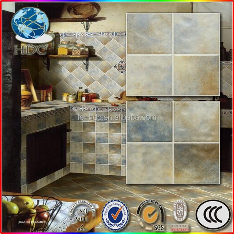 Azulejo de cerámica 15x15 azulejo de la cocina adhesivos rústico ...