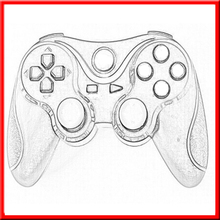 2015 Brand New video game wireles gamepad for playstation 3 controller