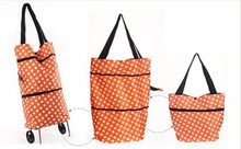 Folding Style and Aluminum Material shopping trolley bag with chair