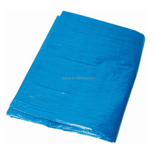 PE blue waterproof canvas tarpaulin sheet , car body cover fabric tarp