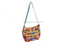 Promotional canvas bag messenger/cheap school backpack