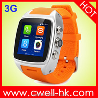 3G watch phone Smart X01 in China 512MB ram android OS smart watch