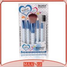 5 Pcs Makeup Brush Set Pink Blue Burst Cosmetic Eyebrown Eyelash Lip Shadow