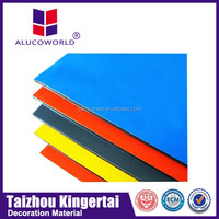 2Alucoworld 20 Years Warranty pvdf coating exterior 4x8 feet acp sheet/standard size aluminum composite panel(acp)