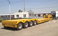 Low price for sale CIMC 100 ton 4 axle low bed trailer