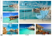 Ocean beach mural high quality Non-woven paper wallpaper design home 3D wallpaper