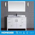 Muebles de Baño de Madera Sólida De Estilo Moderno 48 Pulgadas, Gabinetes de Baño Vanity Usados, Gabinete De Baño Con Espejo y Lavabo