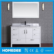 Modern Style 48 Inch Solid Wood Bathroom Furniture, used Bathroom Vanity Cabinets, Bathroom Cabinet With Basin and Mirror