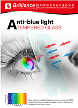 Excellent blue light cut and protect 9H 2.5D round edge tempered glass screen protector for mobile phone