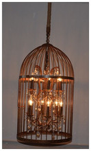 Oriental Large Bird Cage Pendant Lamp