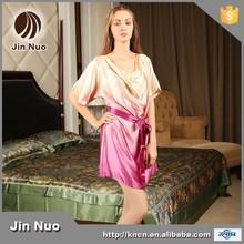Jinnuo SALING caliente COLOR degradado de seda pura mujeres venta al por mayor pijamas de seda