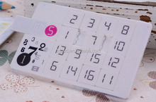 Promotional Slim card calendar USB flash drive/usb stick,Jigsaw puzzle USB memory,rubik's cube USB key/pen drive 4GB