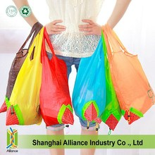 Portable Strawberry Foldable Shopping Tote Eco Reusable Recycle Bag