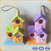 Garden decoration ceramic hanging bird house
