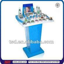 TSD-A009 Custom retail shop floor acrylic acrylic cosmetic counter displays/cosmetic shelf display/make up shows