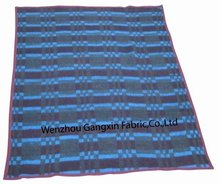comfortable soft woven fringed plaid blanket/plaid blanket