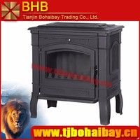 BHB removable ashpan cast iron indoor wood burning stove for sale