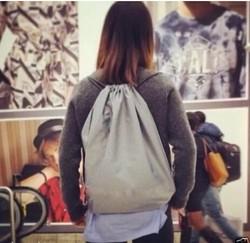 Wholesale Foldable 2015 Child School Polyester Drawstring Bag