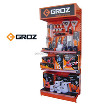 power tools wall display stand, floor metal display racks and stands/ display shelves for retail stores