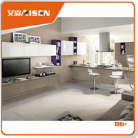 Hot selling modern kitchen cabinets design with wood veneer finish
