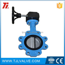 doctile/cast iron resilient seat ptfe butterfly valve water use low price
