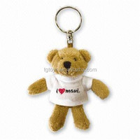 Custom animals plush toys plush keychain teddy bear keychain
