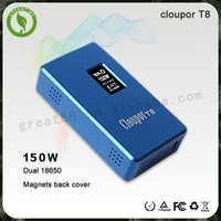 hot new products for 2015 cloupor T8 150W Box Mod battery holder 18650