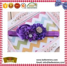 Baby infant hair elastic flowers headband wholesale