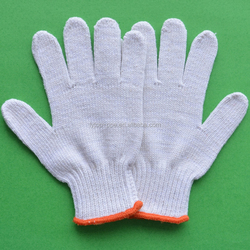 7 gauge 55g white cotton fabric working gloves/China supplier