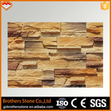 Gloden color antacid and light weight thin stone veneer panels