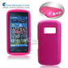 2014 novelty mobile phone accessories made in China PC silicone hybrid case for Nokia C6-01