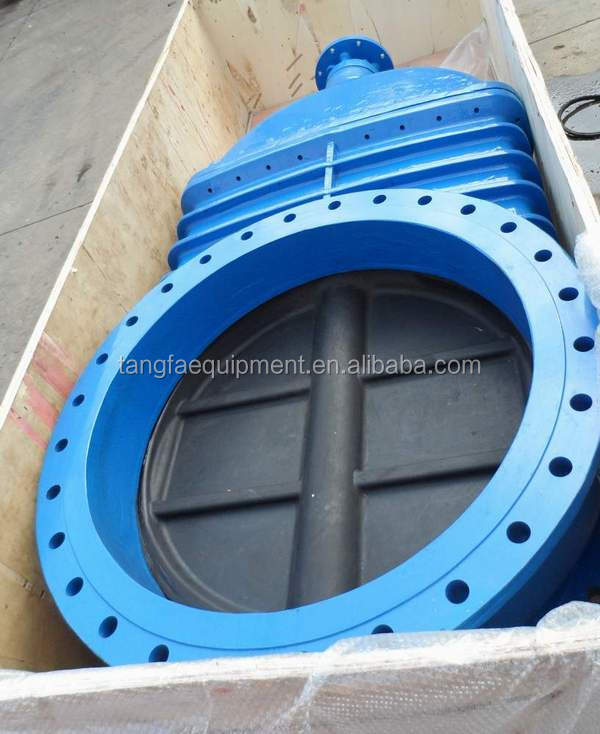 DN1000 resilinet seated DIN3352 F4 non rising stem gate valve