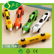Promotioanal Gift Car Shape Plastic Pen For Children