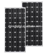 Long warranty high watt power monocrystal solar panel 100w