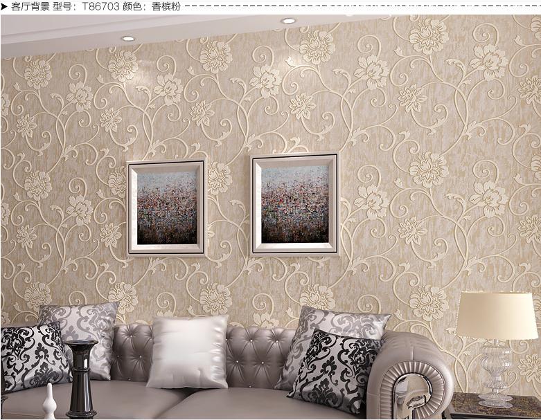 집 장식 벽 종이 3d 장식 섬유 벽지 인테리어 홈 장식-벽지 또는 ...