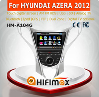 HIFIMAX cheap price promotion touch screen car dvd gps for hyundai azera gps navigation system with PIP 6V-CDC BT RDS IPOD