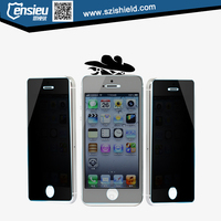 Factory price 9H privacy tempered glass screen protector for iphone 5