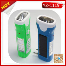 GG-1119 Solar powered rechargeable led flashlight