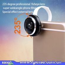 2015 hot new Factory supply 235 degree mobile phone camera lens for all mobile phones, 235 degree universal clip lens