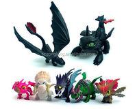 7pcs Dreamworks How to Train Your Dragon Night Fury 4.5-8cm Action Figure Set pr