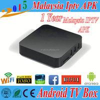Android 4.4 IPTV Malaysia IPTV Box Astro HD Channel 1/3/6/12 months HDTV MyIptv Malaysia iptv box no subscription
