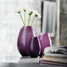 purple Glass vase for home decor